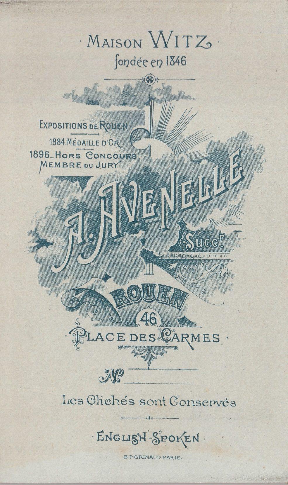 Album bfn Avenelle Jeanne épouse de Arthur Buchy page  photo  verso rotated